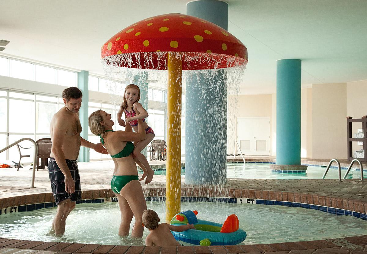 Family in Kiddie Pool at Bay View Resort