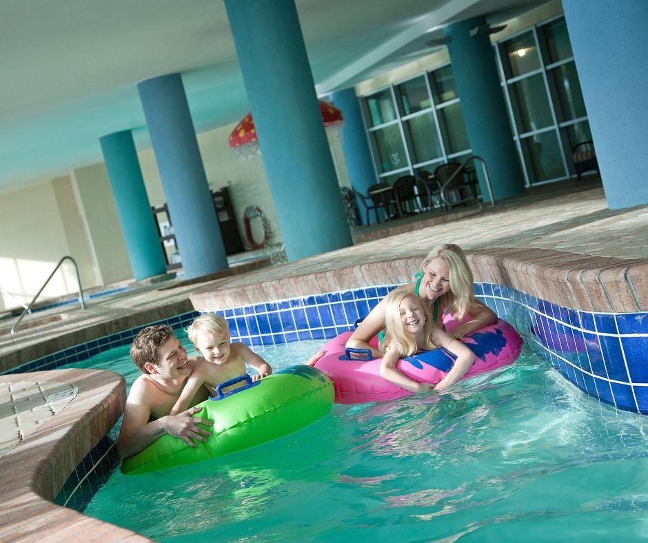 Indoor Lazy River at Bay View Resort