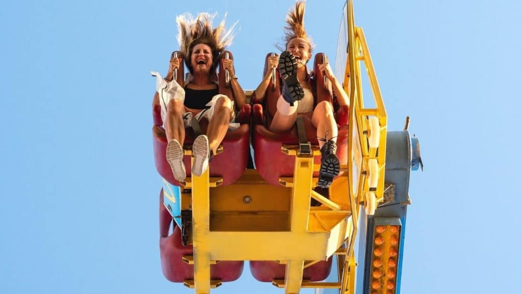 Two Women on a Thrill Ride